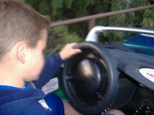 Mitchell driving like a mad-man
