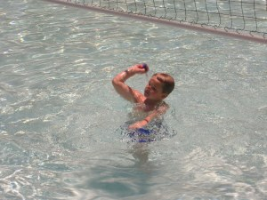 Mitchy in the pool